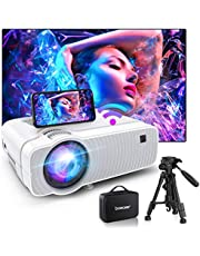 $96 » Bomaker WiFi Mini Projector, HD 1080P Supported, Native 1280x720P and 120 ANSI Lumen, Portable Home Theater Outdoor Video Movie Projector,Compatible with TV Stick, Video Games,PS4,DVD Players,iPhone
