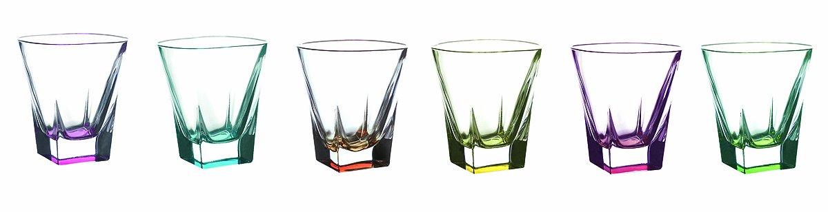 Fusion Crystal Multicolor Shot Glass Set