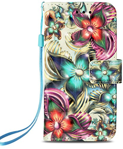 (for Samsung Galaxy S9 Case PU Leather Wallet Phone Case [Kickstand & Wrist Strap][3D Design Kaleidoscope] Flip Full Body Protective Cover with Credit Card Slot Magnetic Closure Stand Accessories)