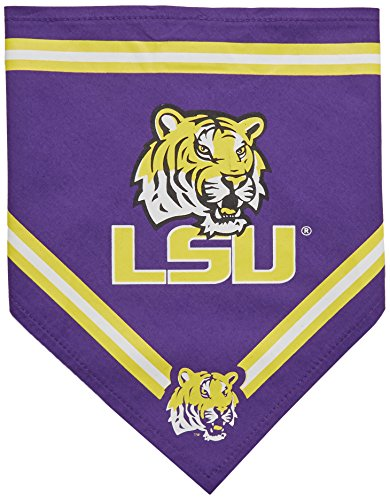 Collegiate LSU Tigers Pet Bandana, Small - Dog Bandana must-have for Birthdays, Parties, Sports Games etc..