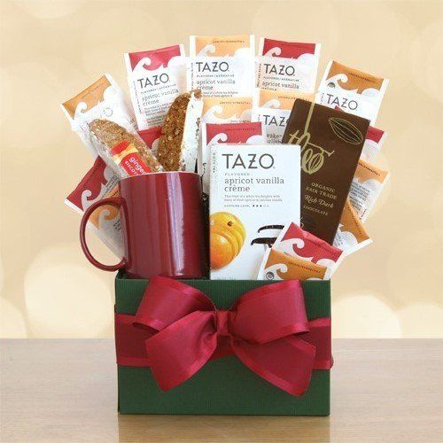 Tazo Tea and Treats Gift Box by The Gift Basket Gallery (Tazo Tea Gift Basket)