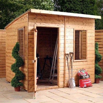 8 cm W x 7 cm D cobertizo de madera