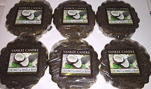 Yankee Candle Lot of 6 Coconut & Vanilla Bean Tarts Wax Melt