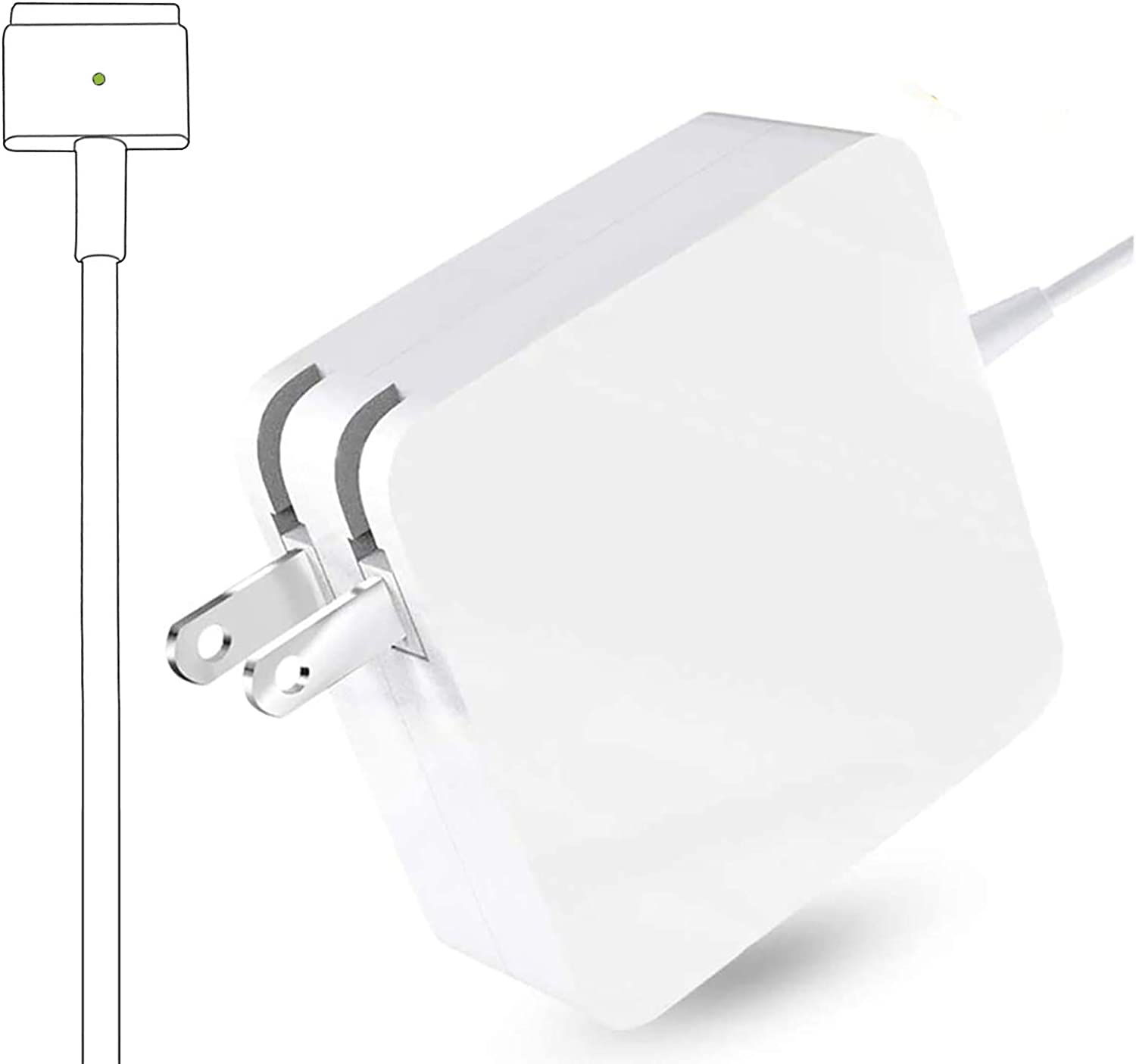 Universal Charger, Replacement 45W Power Adapter Magnetic T-Tip Ac Charger for Mac Book Air 11-inch and 13-inch