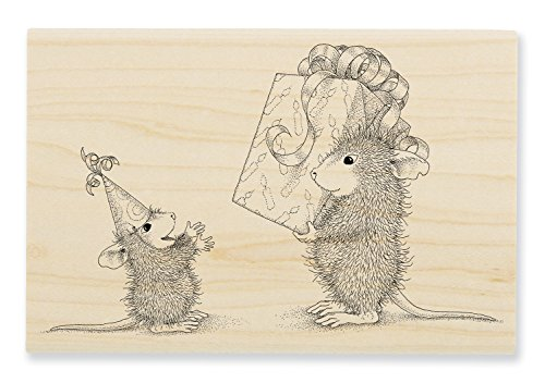 Stampendous HMP94 House Mouse Wood Stampk Birthday