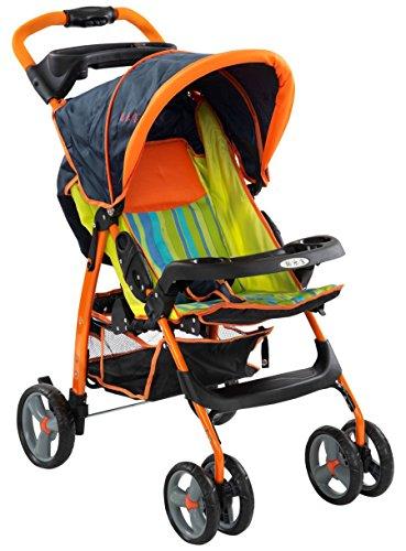 Toyzone Rainbow Stroller, Orange
