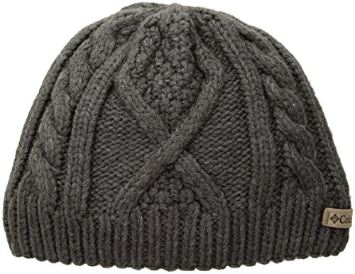 Columbia Kid's Youth Cable Cutie Beanie Hat, Charcoal Heathe