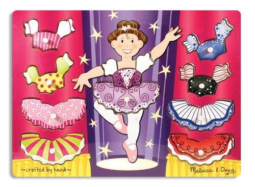 Melissa & Doug Ballerina Dress-Up Wooden Peg - Doug Puppet Ballerina
