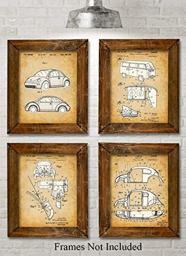 Volkswagen Beetle - Set of Four Photos (8x10) Unframed - Makes a Great Gift Under $20 for Volkswagen Fans
