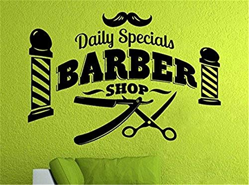 Uyeai Wall Sticker Removable Home Decor Wall Vinyl Decals Barber Shop Home Decor Scissors Brush Comb Barber Shop Tools Hair Salon Art Shop Decoration