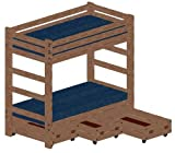 Bunk Bed DIY Woodworking Plans to Build Your Own Twin Over Twin Extra-Tall Bunk with Three Large Storage Drawers and Hardware Kit (for Bunk and Three Drawers)
