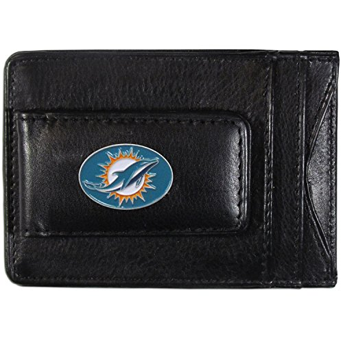 NFL Miami Dolphins Leather Money Clip Cardholder