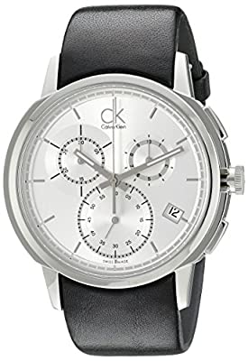 Calvin Klein Men's K1V27820 Drive Analog Display Swiss Quartz Black Watch