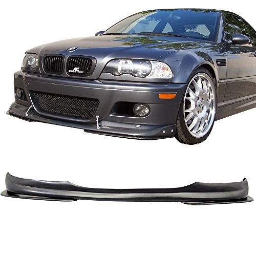 Front E46 Lip (Front Bumper Lip Fits 2001-2006 BMW E46 M3 | Ac-s Style PU Black Front Lip Spoiler Splitter by IKON MOTORSPORTS)