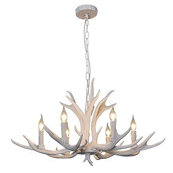 SDLighting® Hirsch Horn 6 Licht Eisen Harz Industrie Retro Droplight  Pendelleuchte Deckenlampe Deckenleuchte Kronleuchter