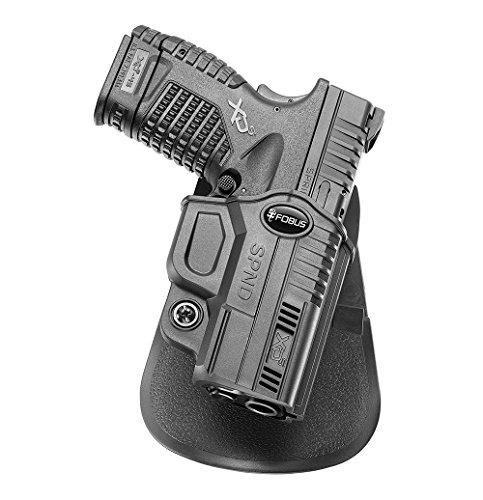 """Fobus SPND Paddle Conceal Concealed Carry Holster Springfield XDS, 3.3"""" & 4"""", 9mm, .40cal & .45cal"""