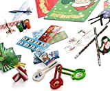 Christmas Toys Party Favors Mega Assorted Stocking Stuffers, Holiday Toys and Activities, Christmas Coloring Books, Tattoos, Jingle Bell Bracelets and More 72 Mega Christmas Toy Assortment By Neliblu