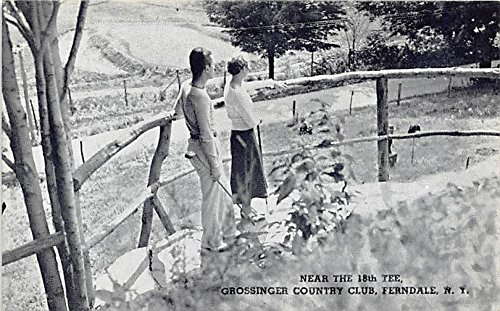 Grossinger Country Club Near the 18th Tee Ferndale, New York, Postcard (18th Tee)