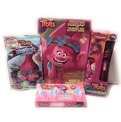 Dreamworks Trolls Holiday Bundle Package - 4 piece (Scrubs Season Four)