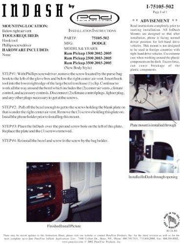 Padholdr Social Series Premium Tablet Dash Kit for 2002-2005 Dodge Ram Pickup 1500, 2500 and 3500 by PADHOLDR (Image #3)