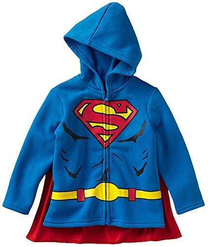 Superman Hoodie Sweatshirt with Cape, Toddler Size 4T