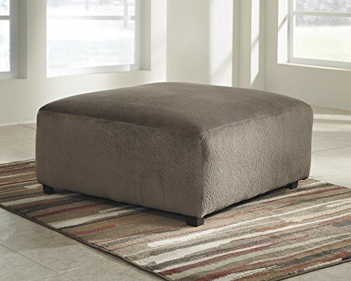 Ashley Furniture Signature Design - Jessa Place Oversized Accent Ottoman - Contemporary Fabric Upholstery - Dune