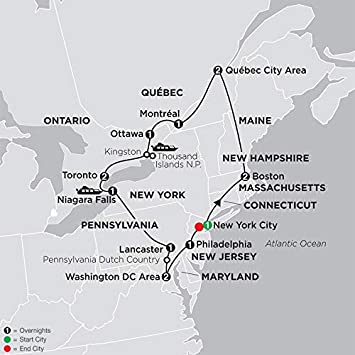 Amazon.com: Home Comforts Laminated Map - Eastern United ...