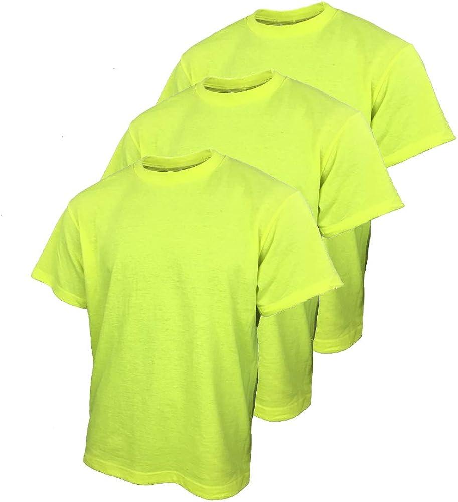 SuNi Camisetas de Seguridad para Hombre con Camisa de Trabajo de Alta Visibilidad - Amarillo - X-Large: Amazon.es: Ropa y accesorios