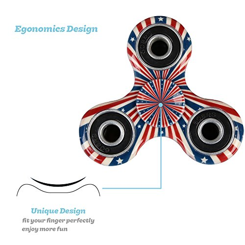SCIONE 50 Pack Fidget Spinner ADHD Anxiety Stress Relief Toys for Adults Kids Autism Fidgets Best EDC Hand Spinners Bearing Trispinner Finger Toy Focus Fidgeting Restless Tri-Spinner by SCIONE (Image #3)