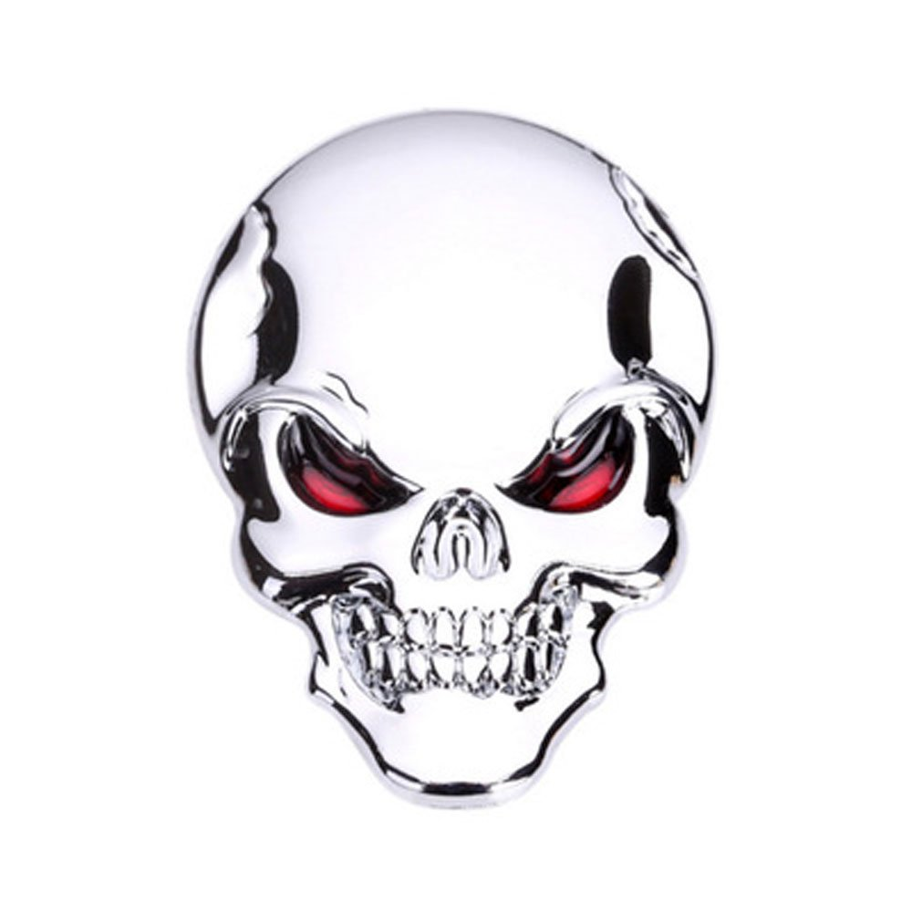 Amazon com 3d metal decal skull punisher vehicle car motorcycle sticker 2 pack ghost adornment gold(the head of a ghost) automotive