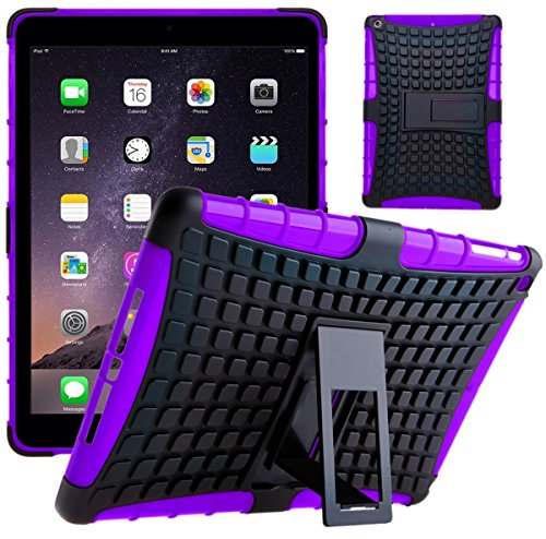 Funda iPad Air, G-Shield Carcasa Extremo Protección [Con Soporte] [Anti-Arañazos] [Anti-Choque] [Muy Resistente] Híbrida a Prueba de Golpes Case Cover Para Apple iPad Air (iPad 5) - Rojo Violeta