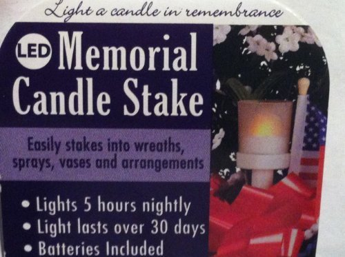 LED Memorial Candle Stake by Universal Sunray