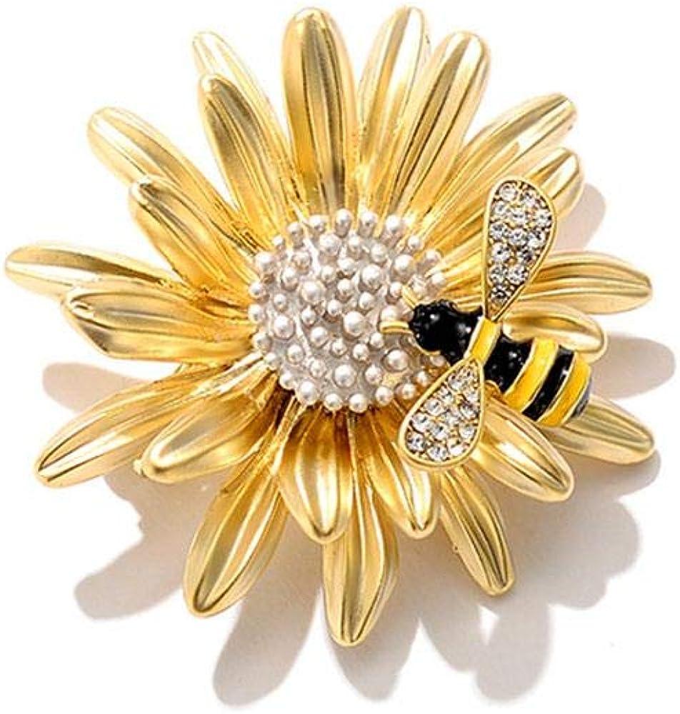 Fleur Forme Femmes Cadeau insigne écharpe Clip Broches Broche Pin Fashion Jewelry