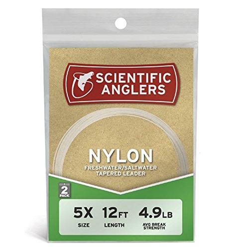 Scientific Anglers Premium Nylon Leaders (2 Pack), Mixed Color, 7 1/2' - 2X