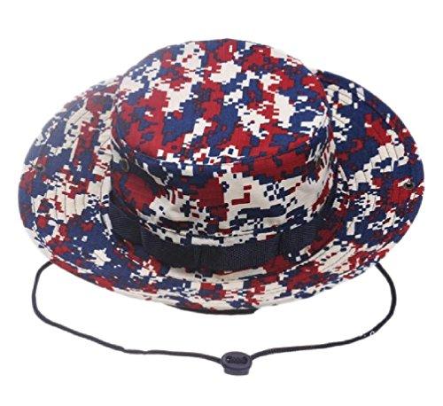 Boonie Hat Military Style Wide Brim Bucket Hat Bush Hat Boonie Hat (L(7 3/8
