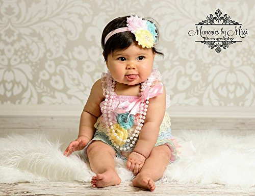 7e22f9319cb6 3pcs Baby Girl Summer Pastel Petti Lace Romper Set