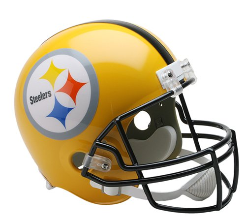 Helmet Pittsburgh Steelers Throwback (Pittsburgh Steelers Yellow Throwback Riddell Full Size Deluxe Replica Football Helmet - New in Riddell Box)