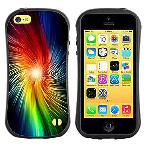 Suave TPU GEL Carcasa Funda Silicona Blando Estuche Caso de protección (para) Apple Iphone 5C / CECELL Phone case / / Star Rainbow Light Black /