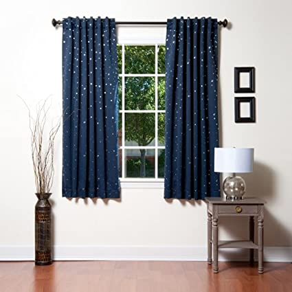 Best Home Fashion Star Print Thermal Insulated Blackout Curtains