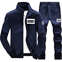 m-lord (TM) Mens Full-Zip Manga Larga sweatsuit Jogger Casual chamarra & Pantalones