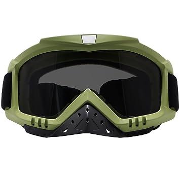 Motocicleta Gafas, dmeixs Motocross agarre para casco resistente al viento resistente al polvo anti niebla