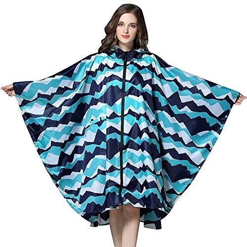 Chicos Rainponcho Chubasquero Para Impermeable Ropa Parka Con Yasminey Chic Blau Mujer Capucha IOq6xnw