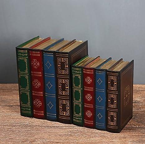 Amazon.com: Chris.W - Sujetalibros de madera envejecida con ...