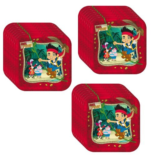 Jake & the Neverland Pirates Dessert Plate-24 Pieces -