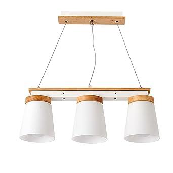 Pendelleuchte Höhenverstellbar Pendellampe Holz Esstisch Hängeleuchte Glas  Deckenlampe Deckenleuchte Kronleuchter Modern Für Wohnzimmer/Küche/