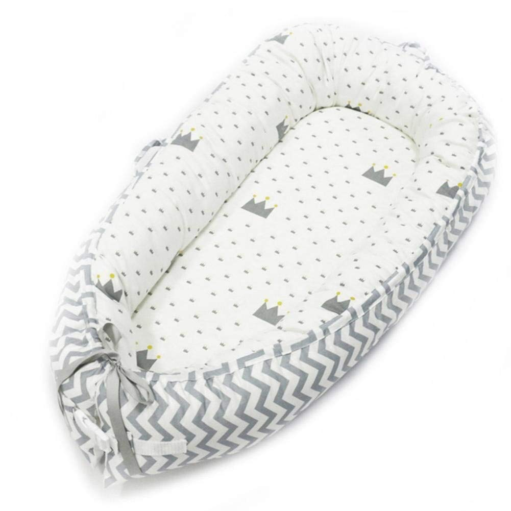 ETERLY Baby Lounger - Portable Super Soft and Breathable Newborn Infant Bassinet, Newborn Cocoon Snuggle Bed Soft Baby Cushion Breathable Nest (Color : 4) by ETERLY