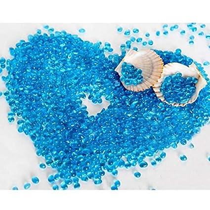Paleo Hielo arena de cristal azul decoración del acuario arena paisajismo pecera