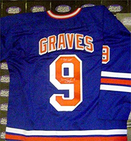 Image Unavailable. Image not available for. Color  Autographed Adam Graves  Jersey ... b36f3c5ce