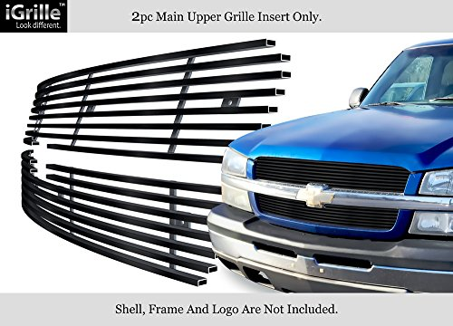 Stainless Steel 304 Black Billet Grille Grill Custome Fits 02-05 Chevy Silverado 1500/Avalanche