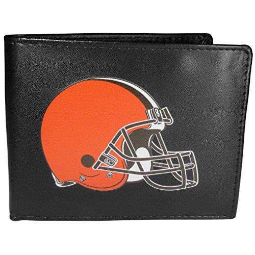Siskiyou NFL Cleveland Browns Bi-Fold Wallet Logo, Large, Black